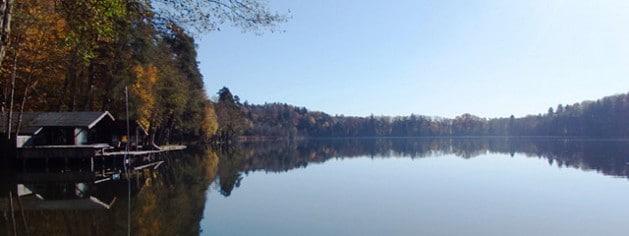 Der Steinsee in Ebersberg bei München